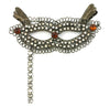 Mask with Stick Ornament Clear Stones