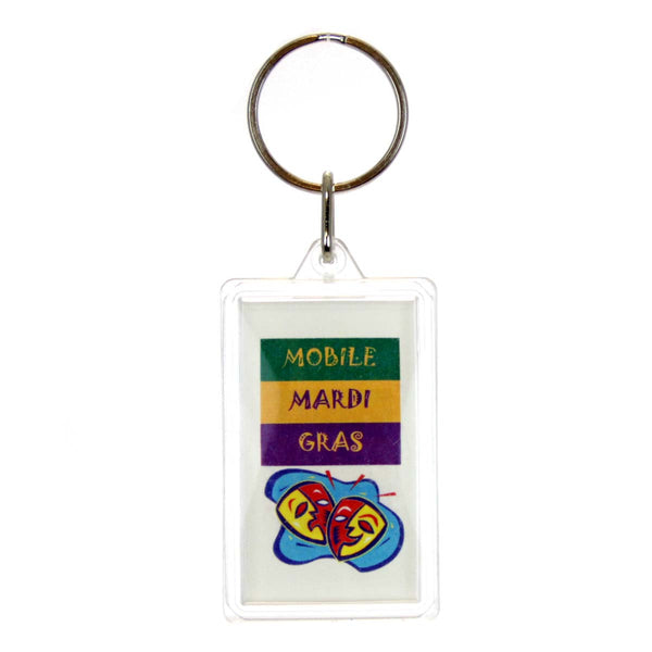 Mardi Gras Key Ring - Mobile Alabama