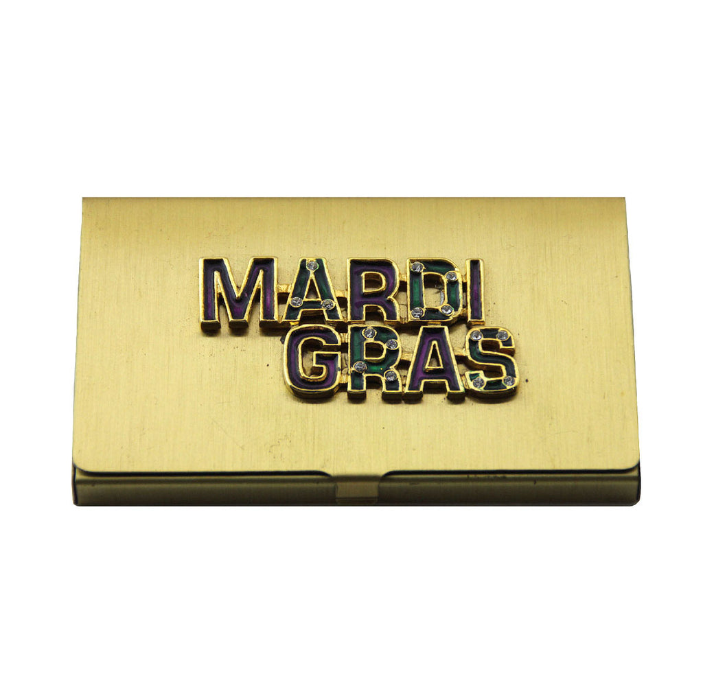 Business Card Holder Mardi Gras