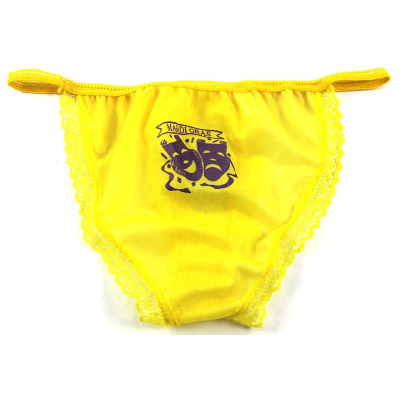 Mardi Gras Panties Yellow