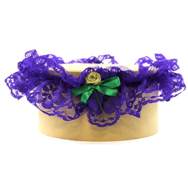 Lace Garter Purple