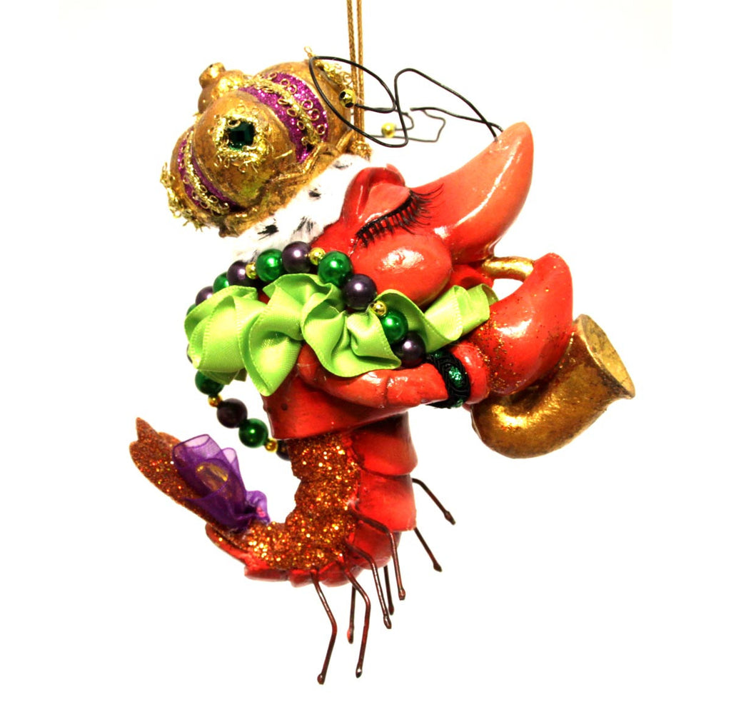 Crawfish Ornament Saxophone