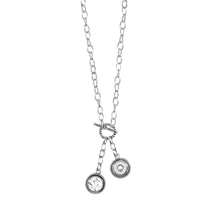 Ginger Snaps Petite Toggle Necklace w/Stone Charm