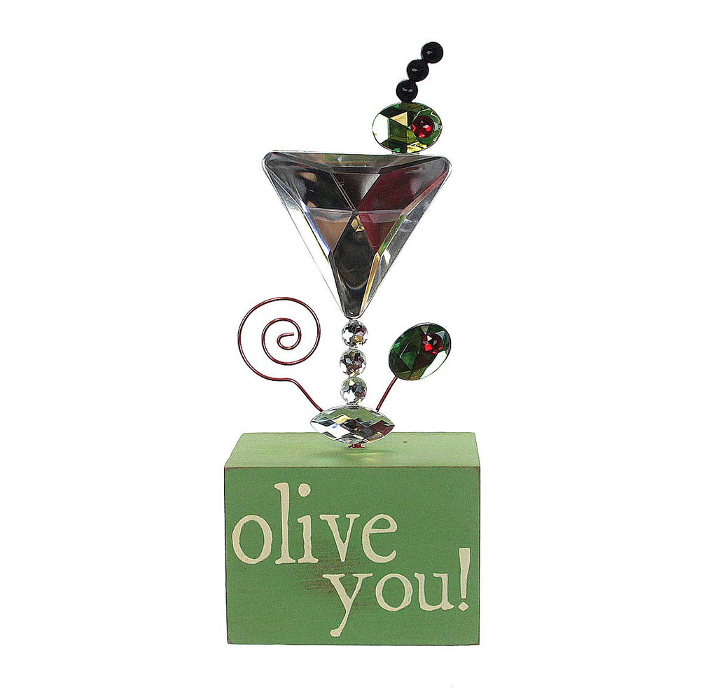 Message Block Picture/Place Card Holder-Olive You