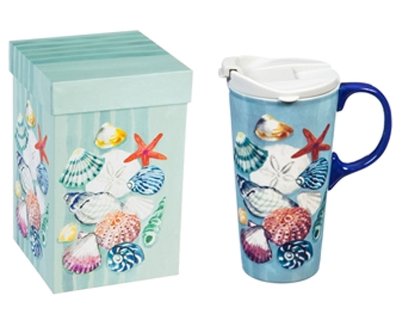 Seashell Travel Mug w/ Box