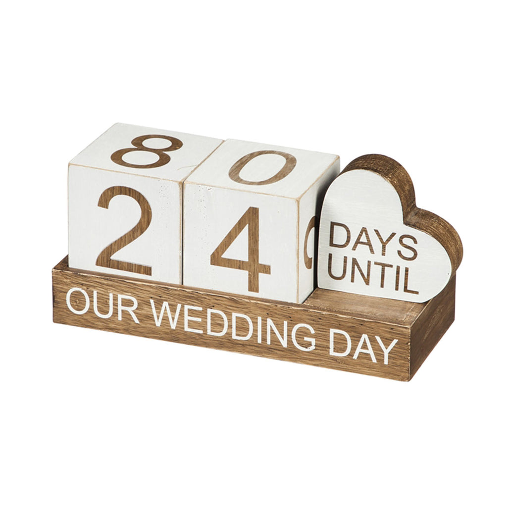 """Our Wedding"" Wooden Countdown Decor"