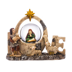 """LOVE"" Nativity Water Globe"