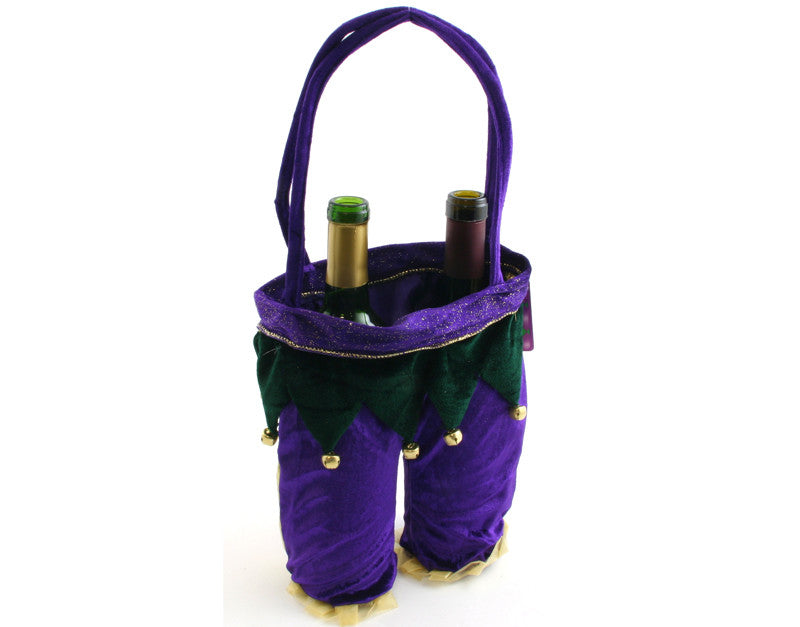 Mardi Gras Jester Wine Bottle Bag