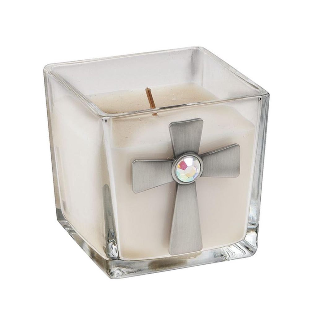 Candle - Cross/White Linen Fragrance