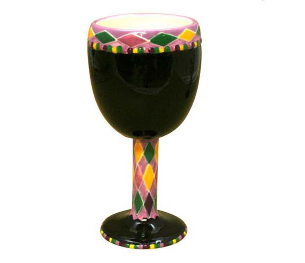 Ceramic Wine Goblet Black