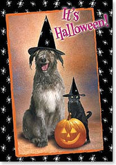 Halloween Card Dog Cat