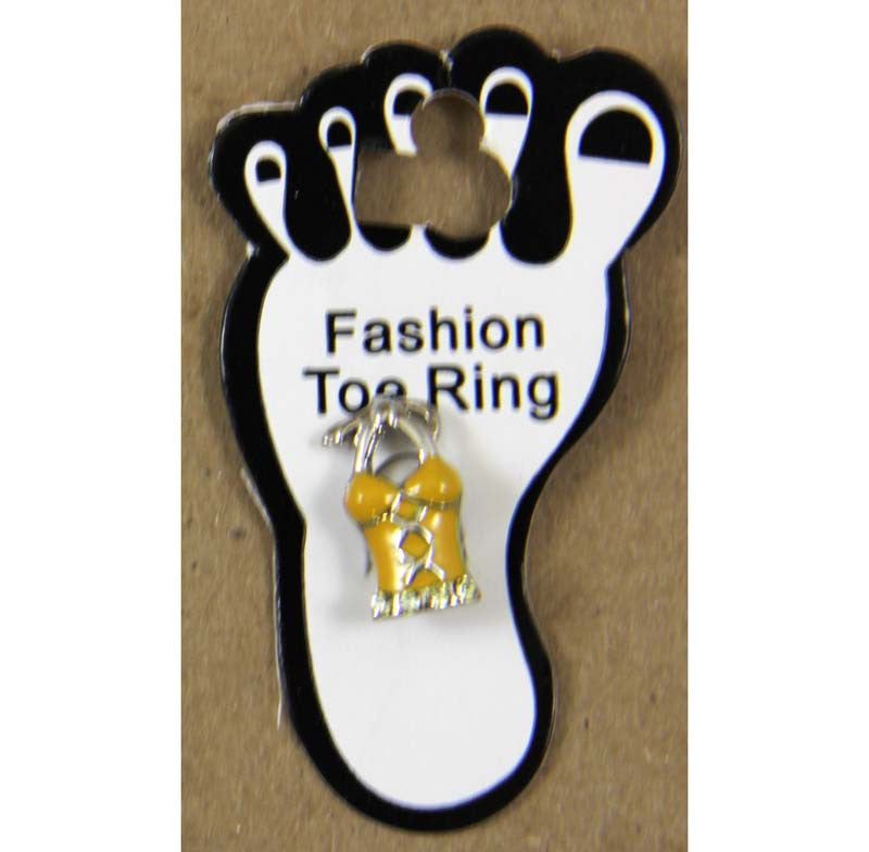 Toe Ring Woman's Top Yellow