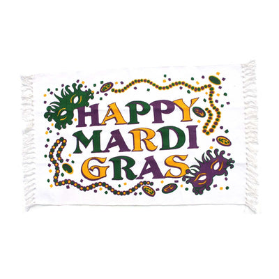 Happy Mardi Gras Rug