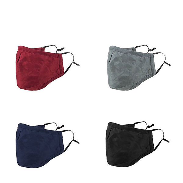 Adult Face Mask, 3 Solid Colors