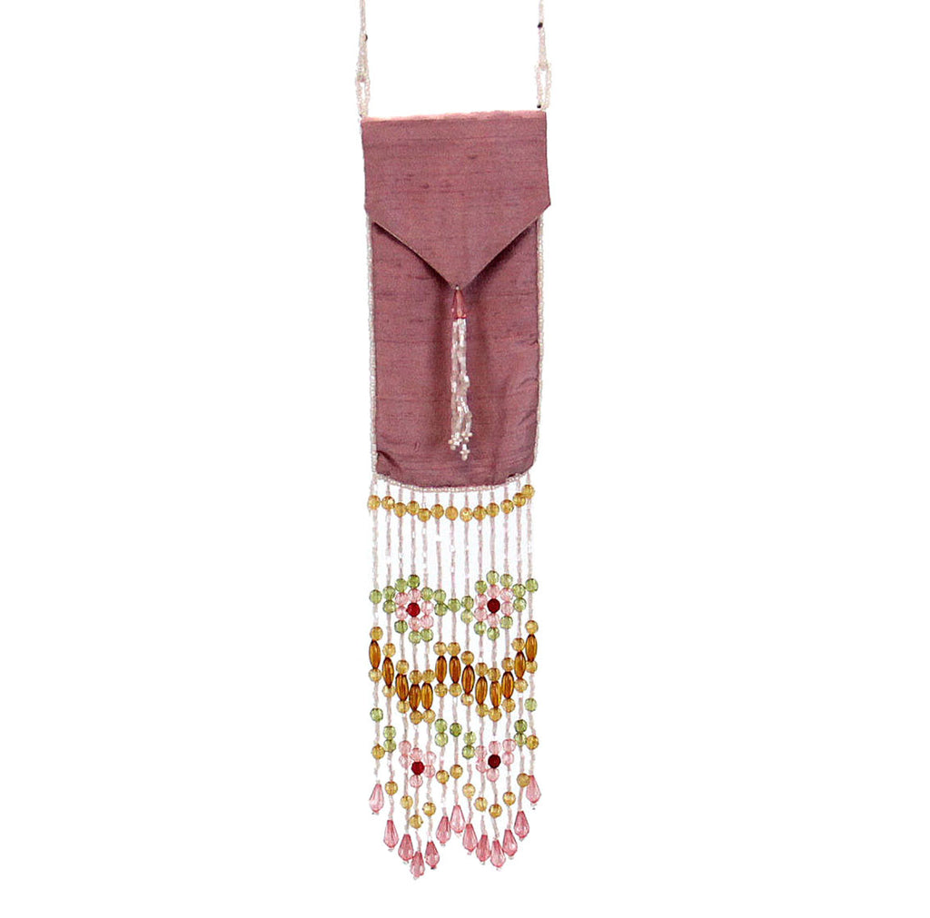 Beaded Accessory Bag Pink