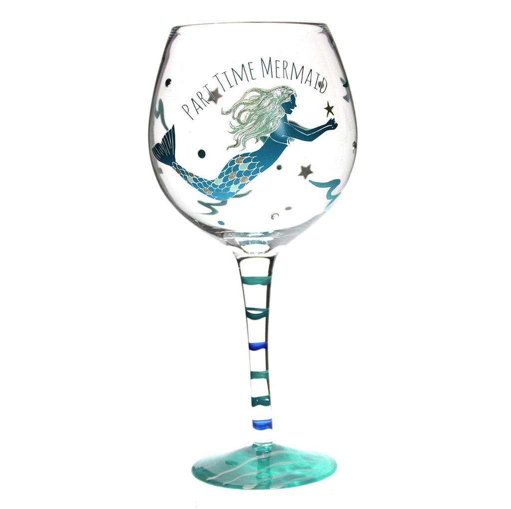 Mermaid Wine Glass - Blue