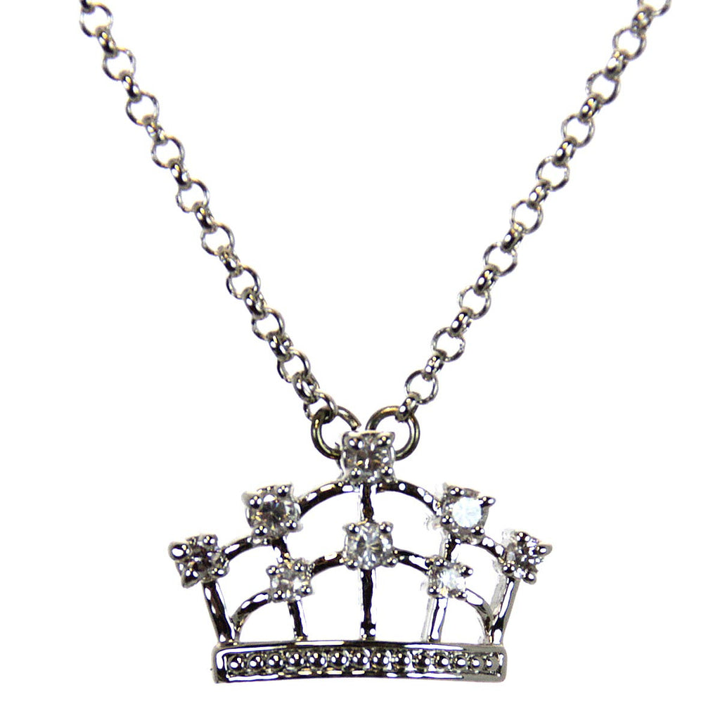 Crown Necklace Rhodium