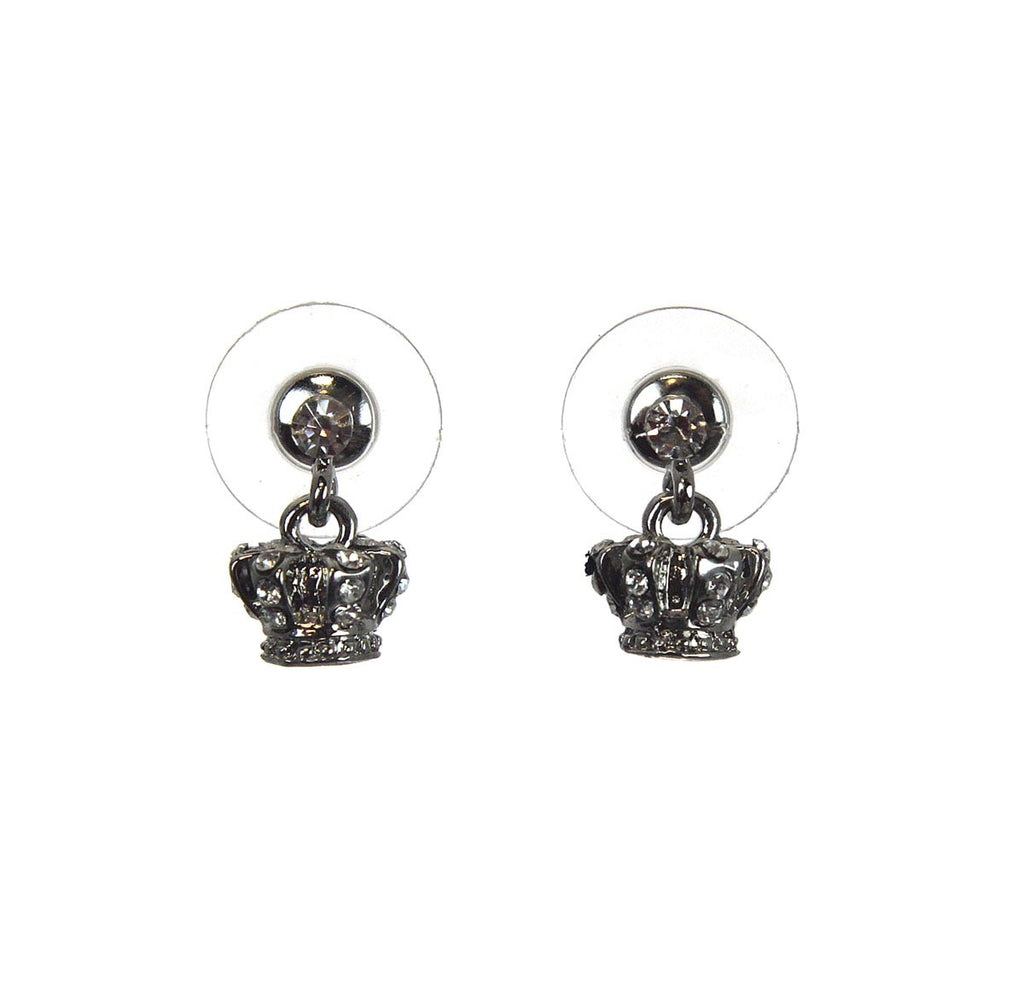 Crown Earrings Crystal Small