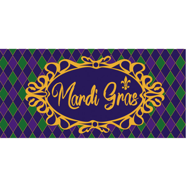 Celebrate Mardi Gras Sassafras Switch Mat