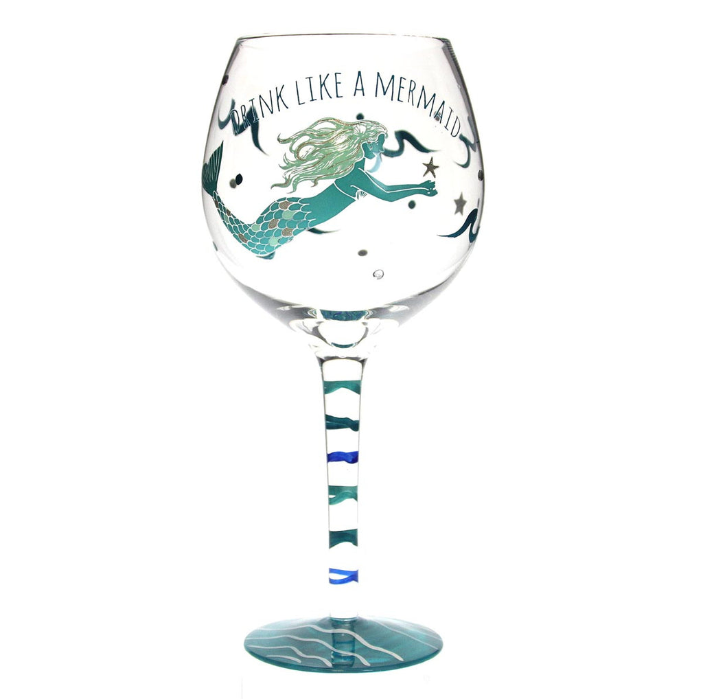 Mermaid Wine Glass - Green