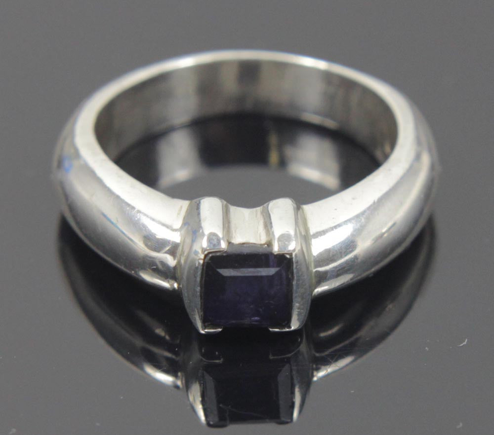 Sterling Silver Amethyst CZ Ring Size 9