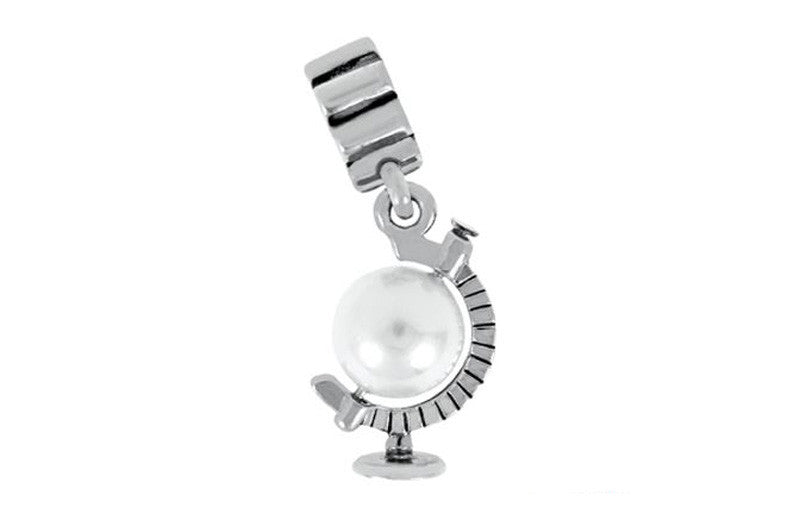 Pearl Globe Atlas Dangle Bead