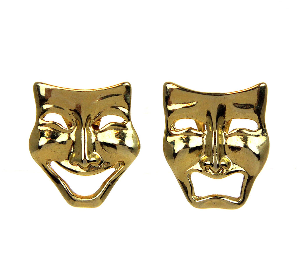 Comedy & Tragedy Earrings Clip