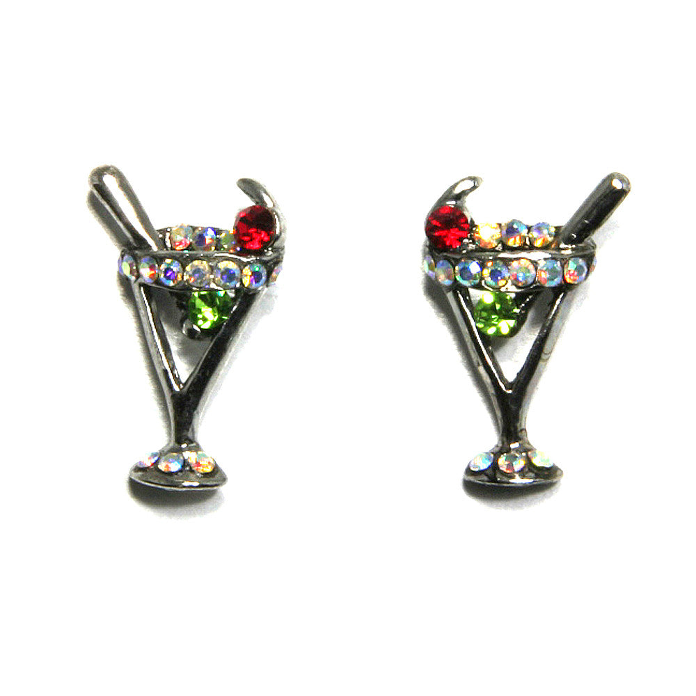 Martini Earrings Peridot/AB
