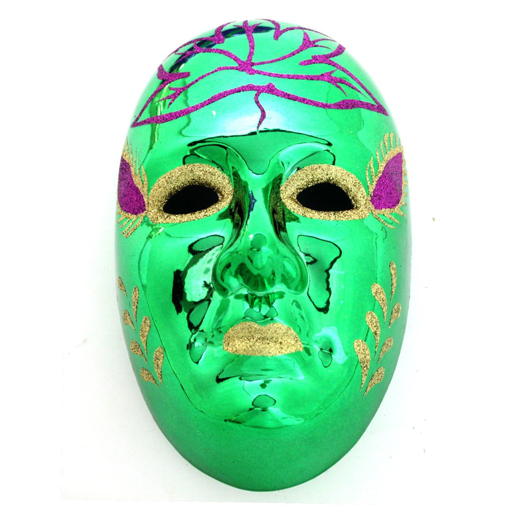 Full Face Mask Ornament Green