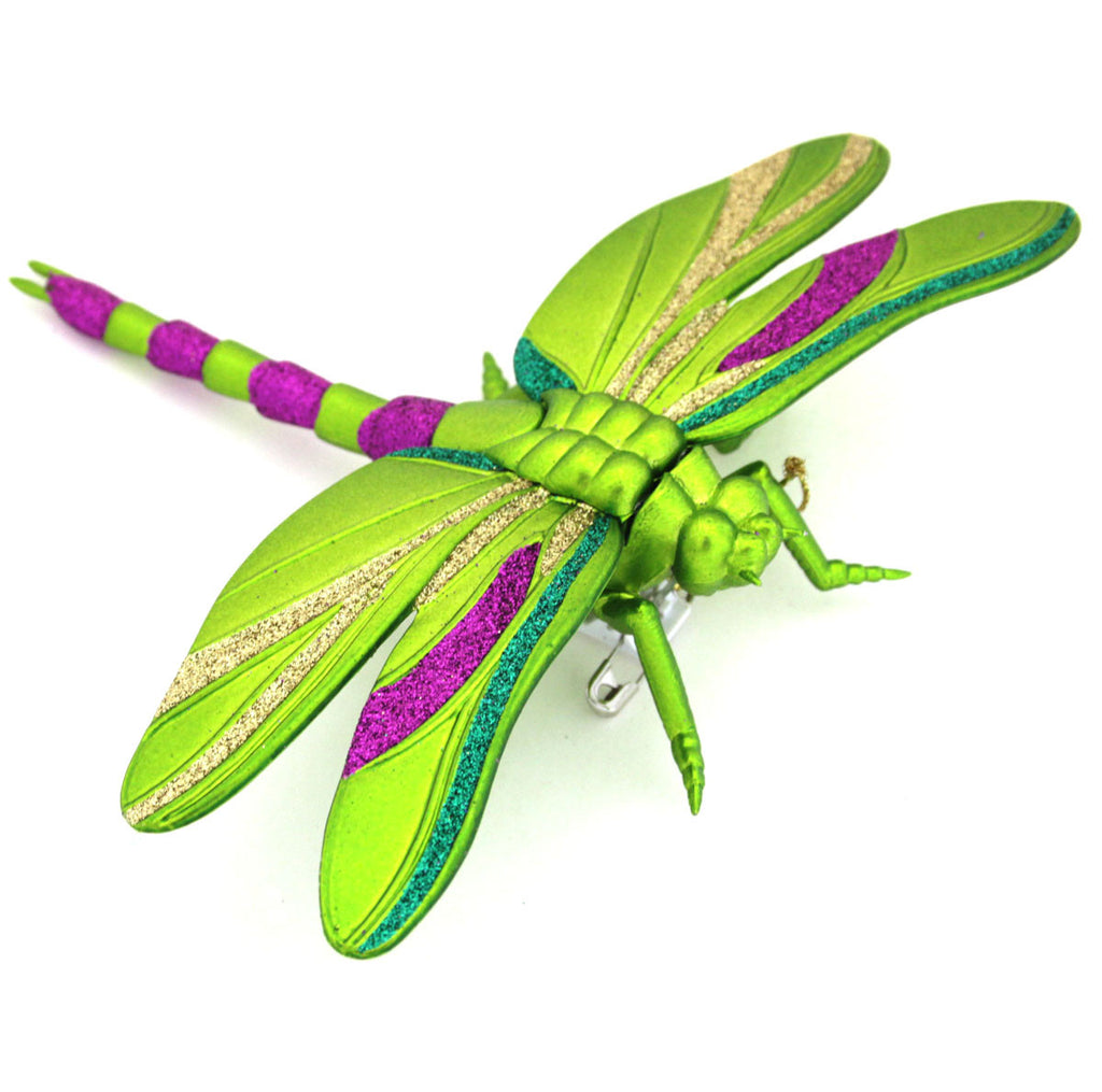 Dragonfly Mardi Gras Ornament