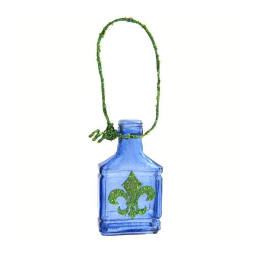Cobalt Blue Bottle Ornament