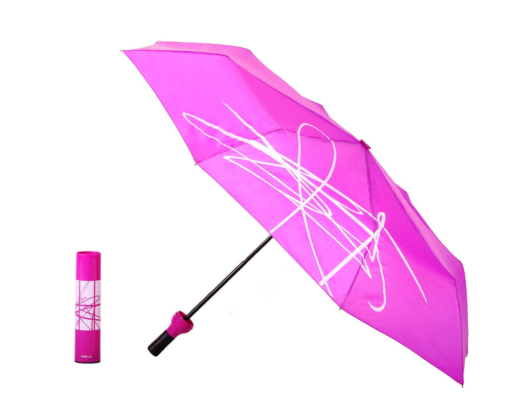 Wine Bottle Umbrella - Artistic Purple