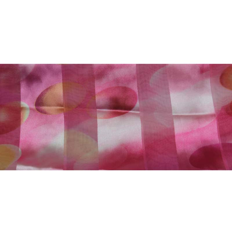 "Long Scarf 60"" x 13"" Pink Eggs Design"