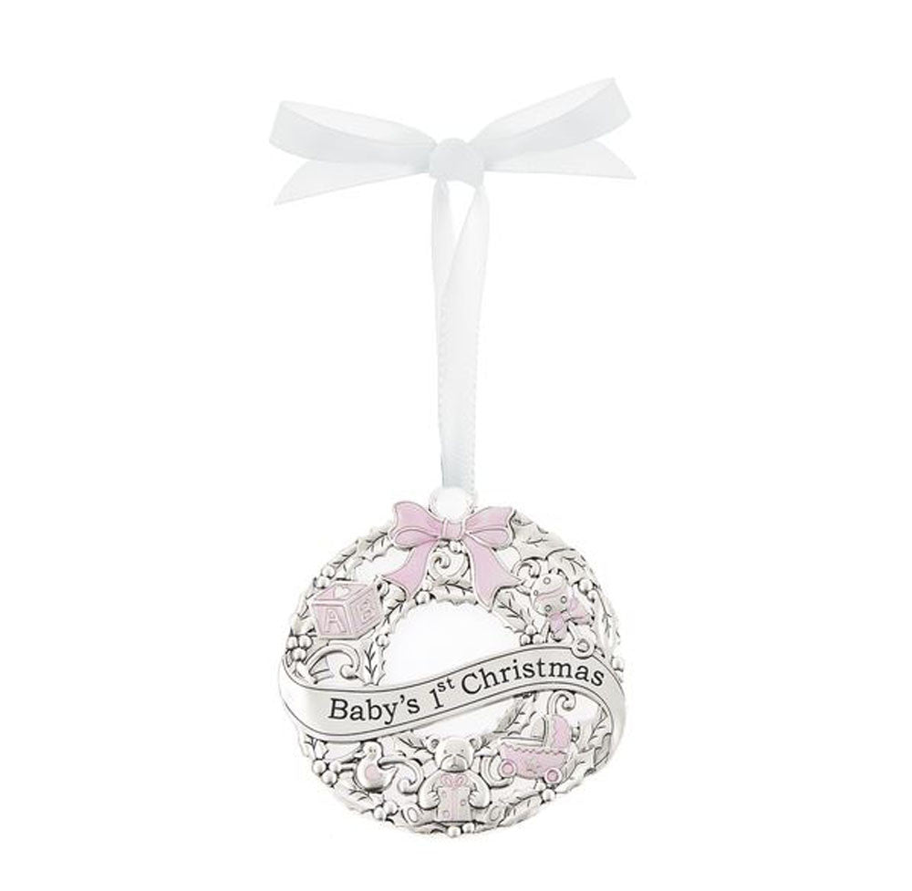 Baby's First Christmas Ornament Pink