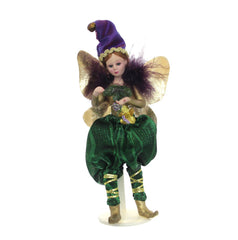 Celebration Mardi Gras Doll Green