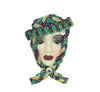 Porcelain Lady Face Pin