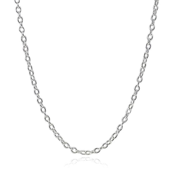 "4mm Silver Cable Chain 16"" to 18"""