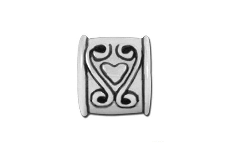 Heart Scroll Bead