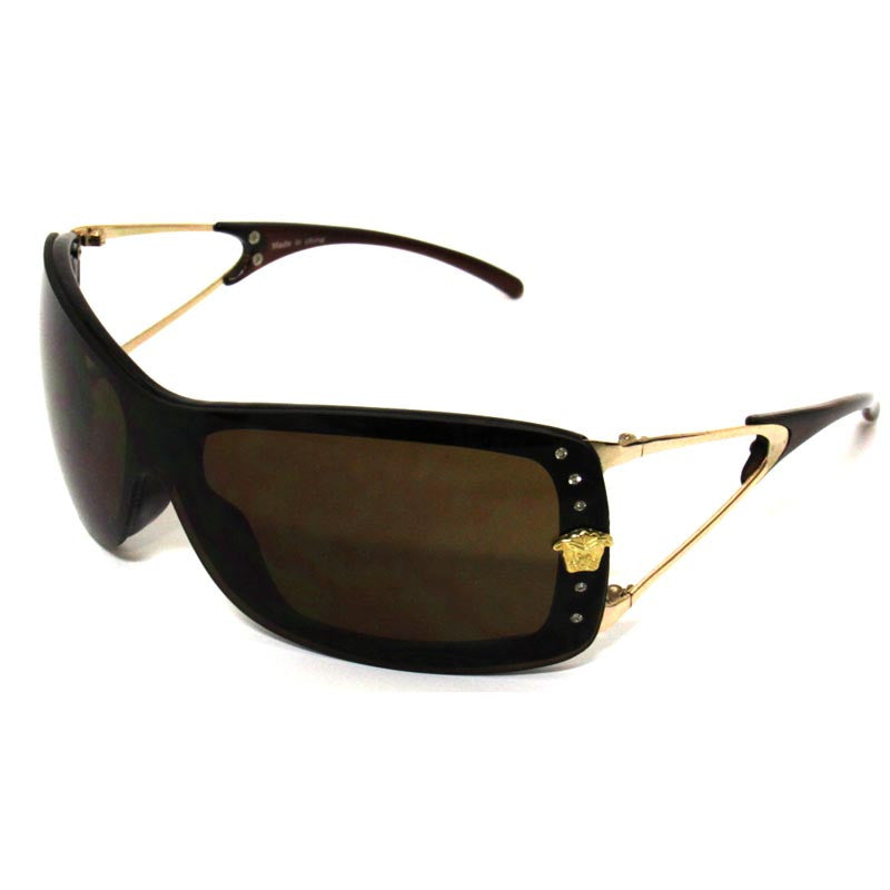 Metal Frame Brown Lens Sunglasses