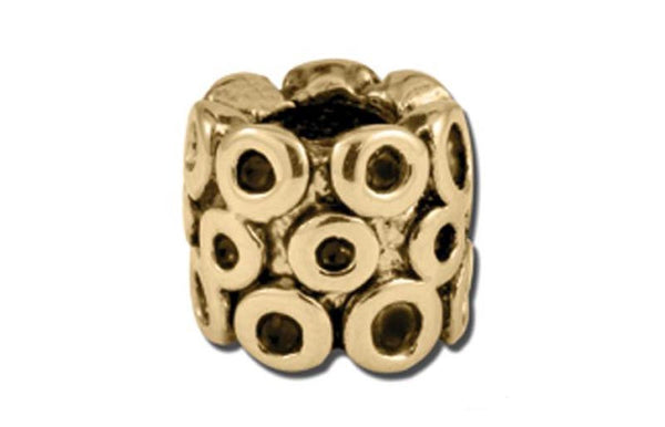 Antique Gold Circle Barrel Bead