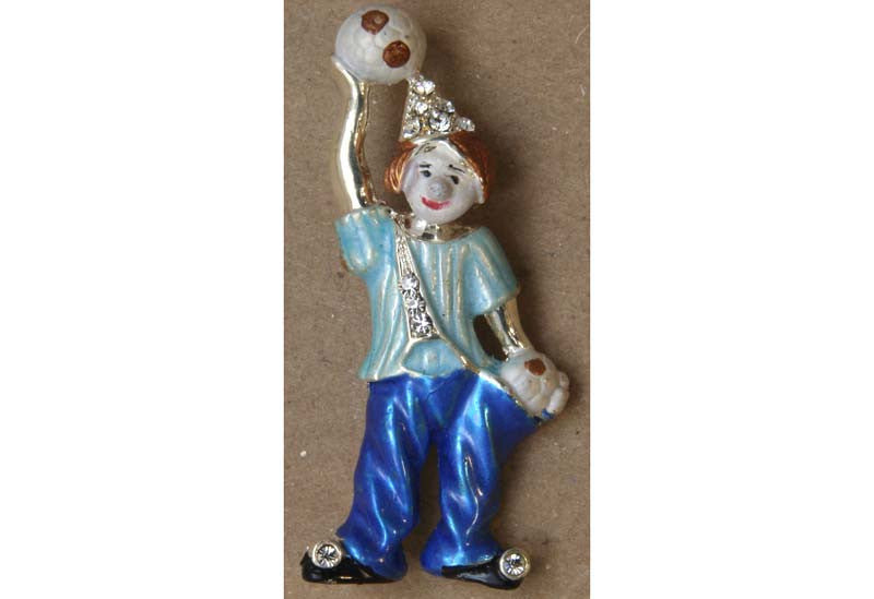 Clown Pin Blue