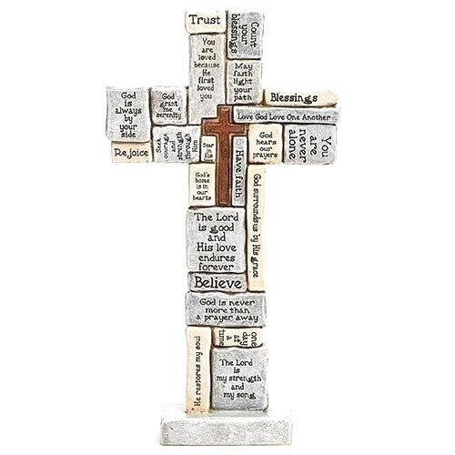 "12.5"" H Crossword Table Cross"