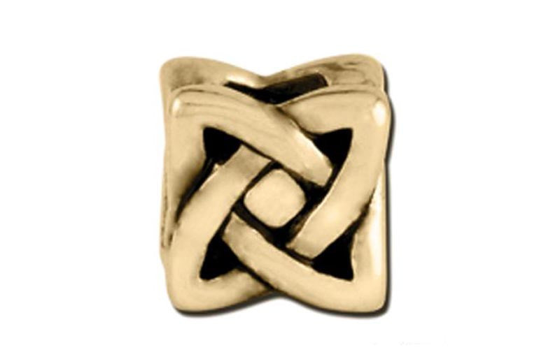 Antique Gold Knot Square Bead