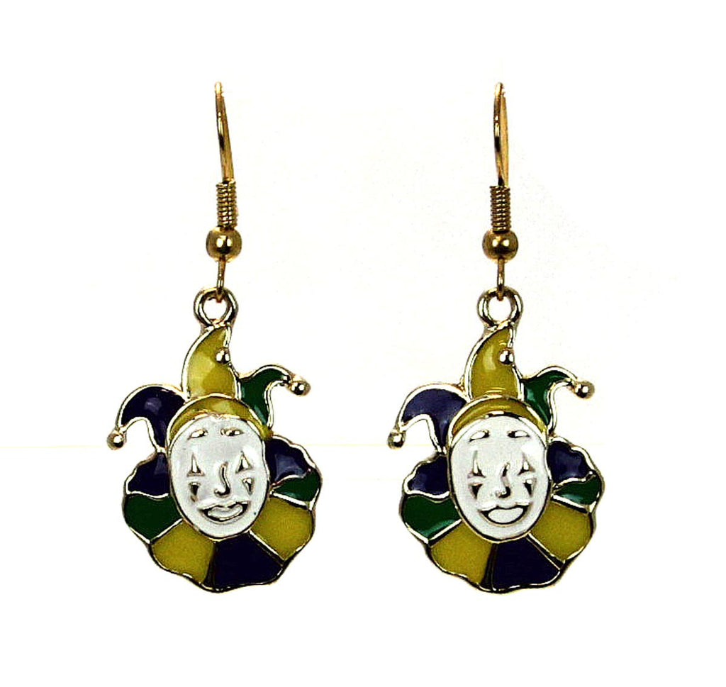 Jester Clown Earrings Mardi Gras