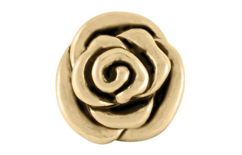 Antique Gold Rose Bead