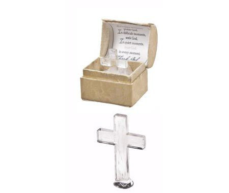 Glass Crosses in Gift Box I can do all things.....
