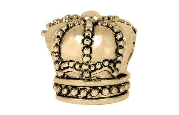 Antique Gold Crown Bead
