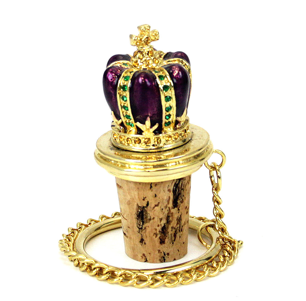 Bottle Stopper Crown Gold