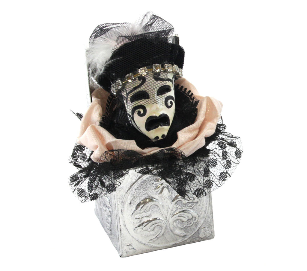 Vintage Mask Tragedy Ornament