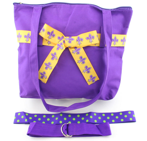 Canvas Bag Fleur De Lis Purple